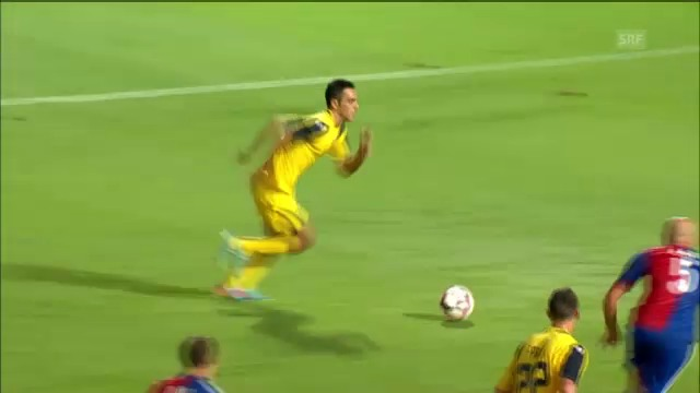 Fussball: 2013, CL-Quali Maccabi-Basel, Tor Zahavi