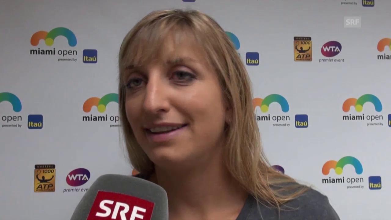 Timea Bacsinszky über ihre nächste Gegnerin Agnieszka Radwanska