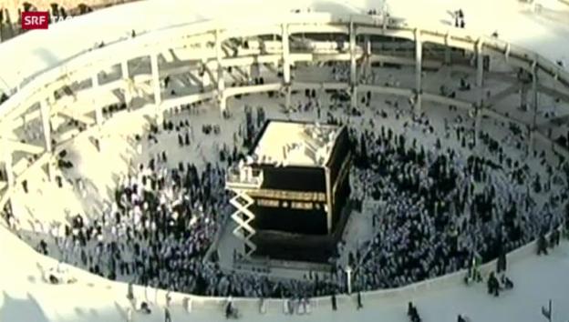 Video «Beginn der fünftägigen Pilgerfahrt nach Mekka» abspielen