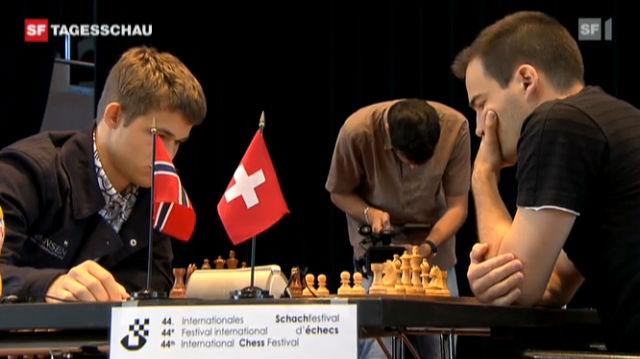 Ehrengast am internationale Schachfestival Biel