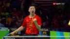 Video «Chinesische Tischtennis-Spieler weiter unschlagbar» abspielen