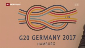 Video «G20-Gipfel in Hamburg eröffnet» abspielen