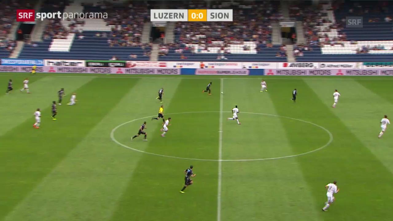 Fussball: Luzern - Sion
