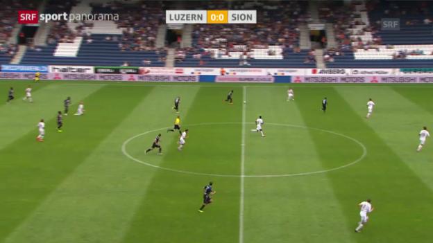 Video «Fussball: Luzern - Sion» abspielen