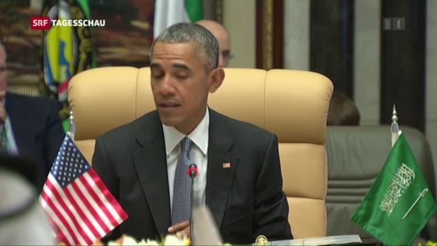 Video «Barack Obama besucht als erster US-Präsident einen Golf-Gipfel» abspielen