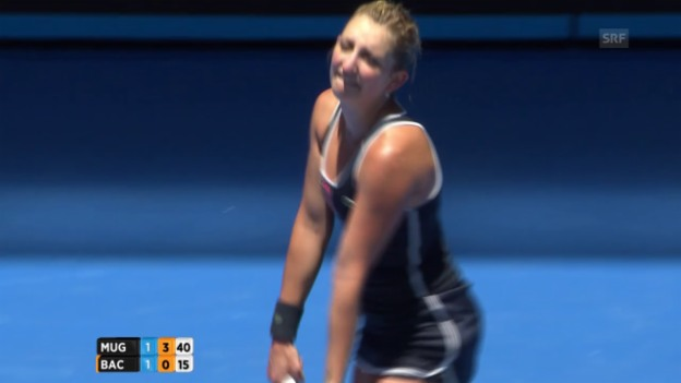 Video «Tennis: Australian Open, Timea Bacsinszky - Garbine Muguruza» abspielen