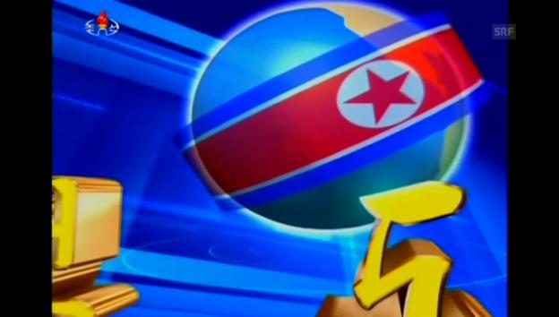 Video «Nordkoreanisches Fernsehen verkündet die Zeitumstellung» abspielen