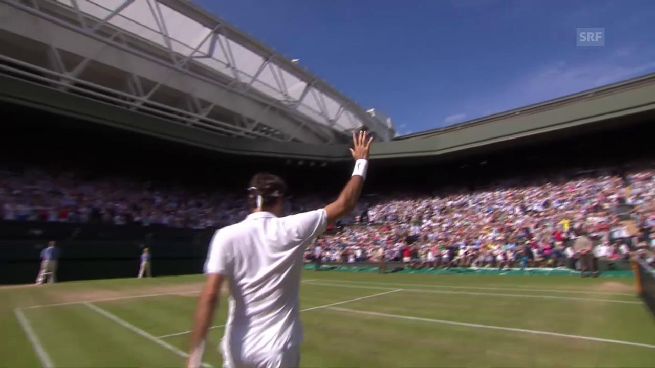 Die Live-Highlights bei Federer - Cilic