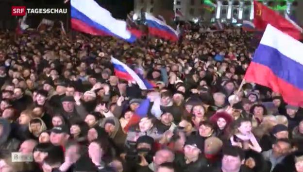 Video «Nach dem Ja zu Russland – Volksfest auf der Krim» abspielen