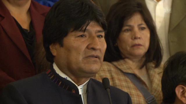 Evo Morales findet vor Trauer kaum Worte.