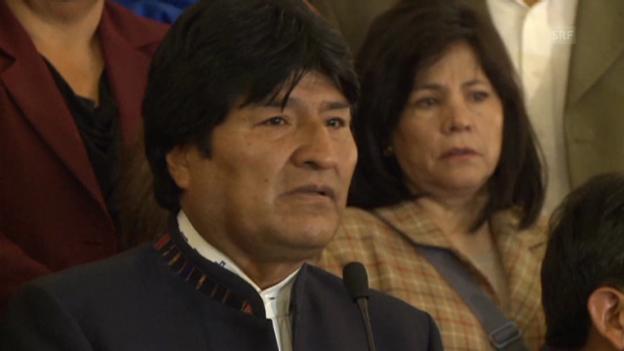 Video «Evo Morales findet vor Trauer kaum Worte.» abspielen