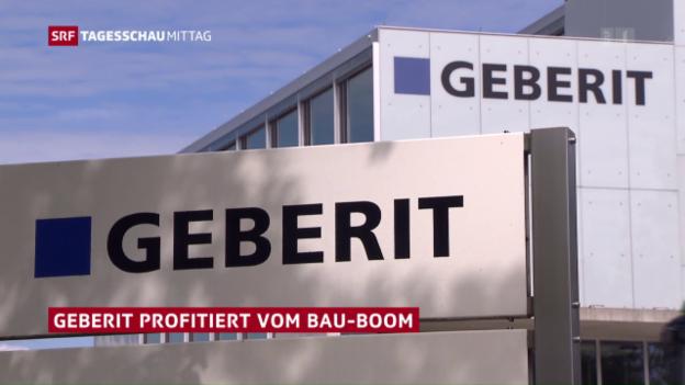 Video «Geberit profitiert vom Bau-Boom» abspielen
