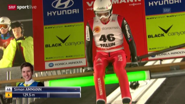 Video «Skispringen: Weltcup in Falun («sportlive», 26.2.14)» abspielen