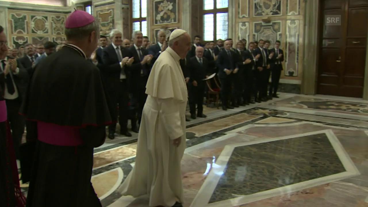 Grosse Ehre vor dem Spiel: Papst-Audienz für Turiner und Römer