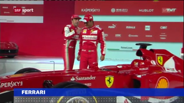 Video «Ferrari präsentiert neuen Boliden («sportaktuell»)» abspielen