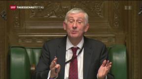 Video «Brexit: Uneinigkeit im Unterhaus» abspielen