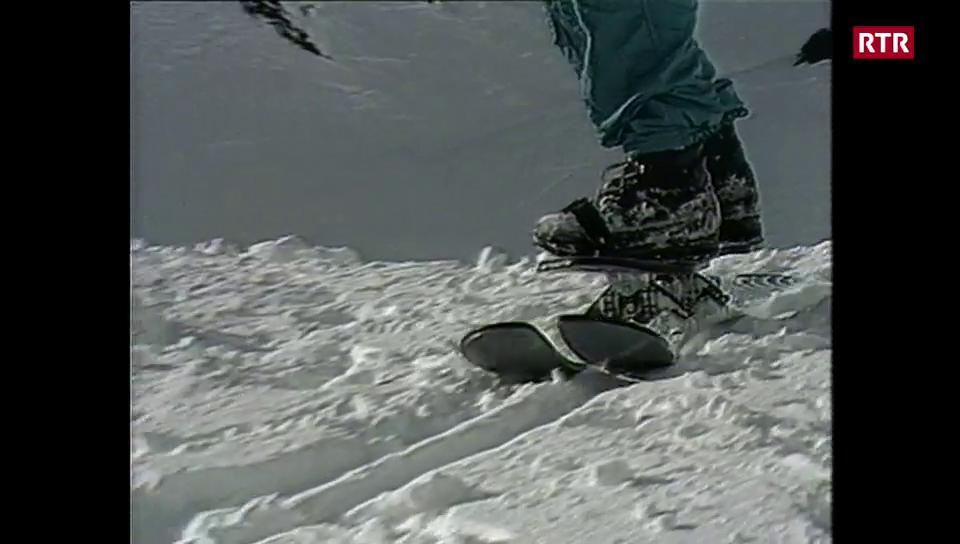 Istorgia dal cumenzament dal sport da snowboard a Scuol