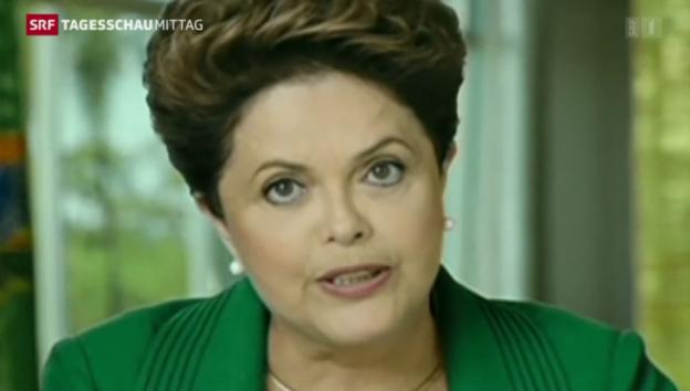 Video «Brasiliens Präsidentin betont Bildungsinvestitionen» abspielen