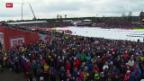 Video «Ski nordisch: Die Stimmung in Falun» abspielen