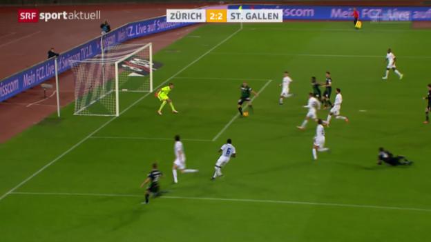 Video «Fussball: FCZ-St. Gallen» abspielen