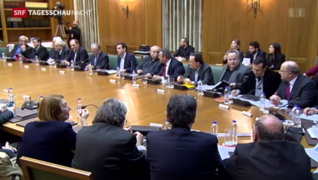 Video «Stühlerücken im griechischen Kabinett» abspielen