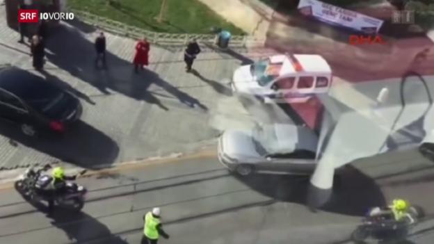 Video «10 Tote bei Selbstmordanschlag in Istanbul» abspielen
