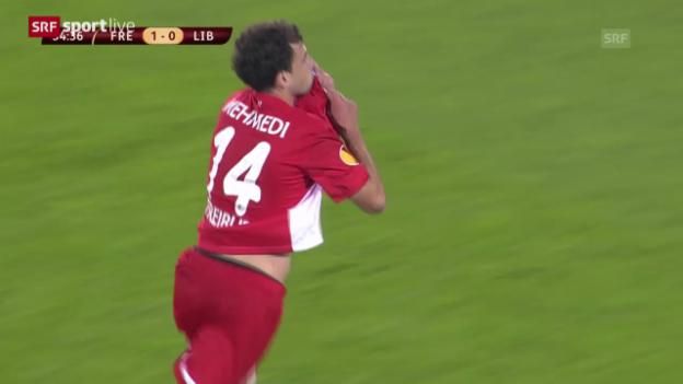 Video «Europa League: Mehmedi trifft für Freiburg» abspielen