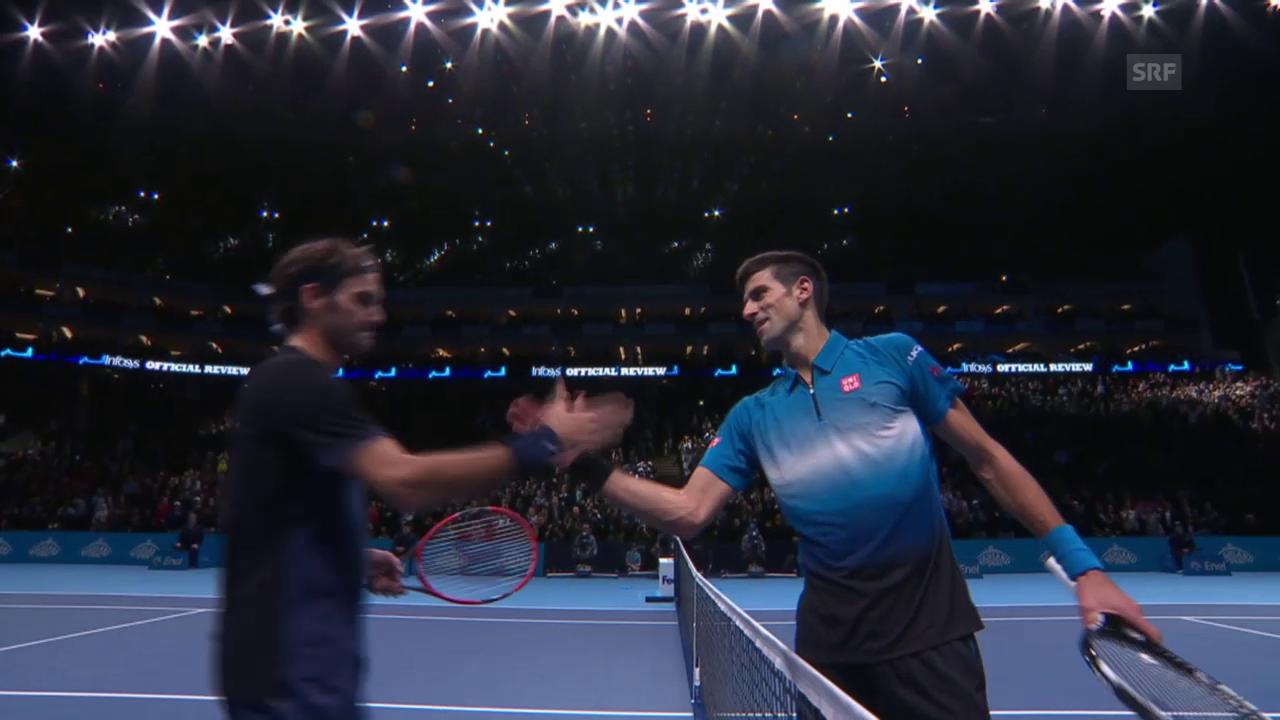 Tennis: ATP Finals, Federer - Djokovic, Matchball Federer