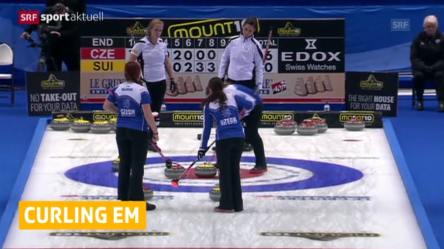 Video «Curling: EM in Champéry» abspielen