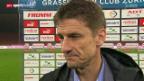 Video «Fussball: Super League, Stimmen GC - Zürich» abspielen