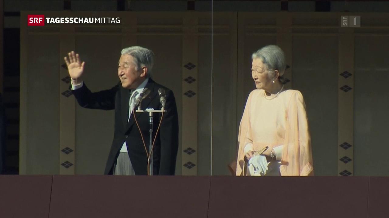 Kaiser Akihito wird 2019 zurücktreten