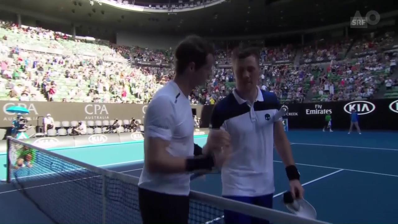 Martschenko muss Murray gratulieren (Quelle: SNTV)