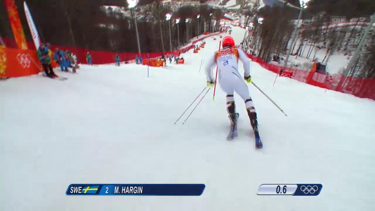 Ski Alpin: Slalom der Männer, 1. Lauf von Mattias Hargin (sotschi direkt, 22.2.2014)