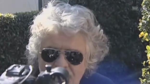 Video «Grillo hat genug von der Parteienlandschaft» abspielen
