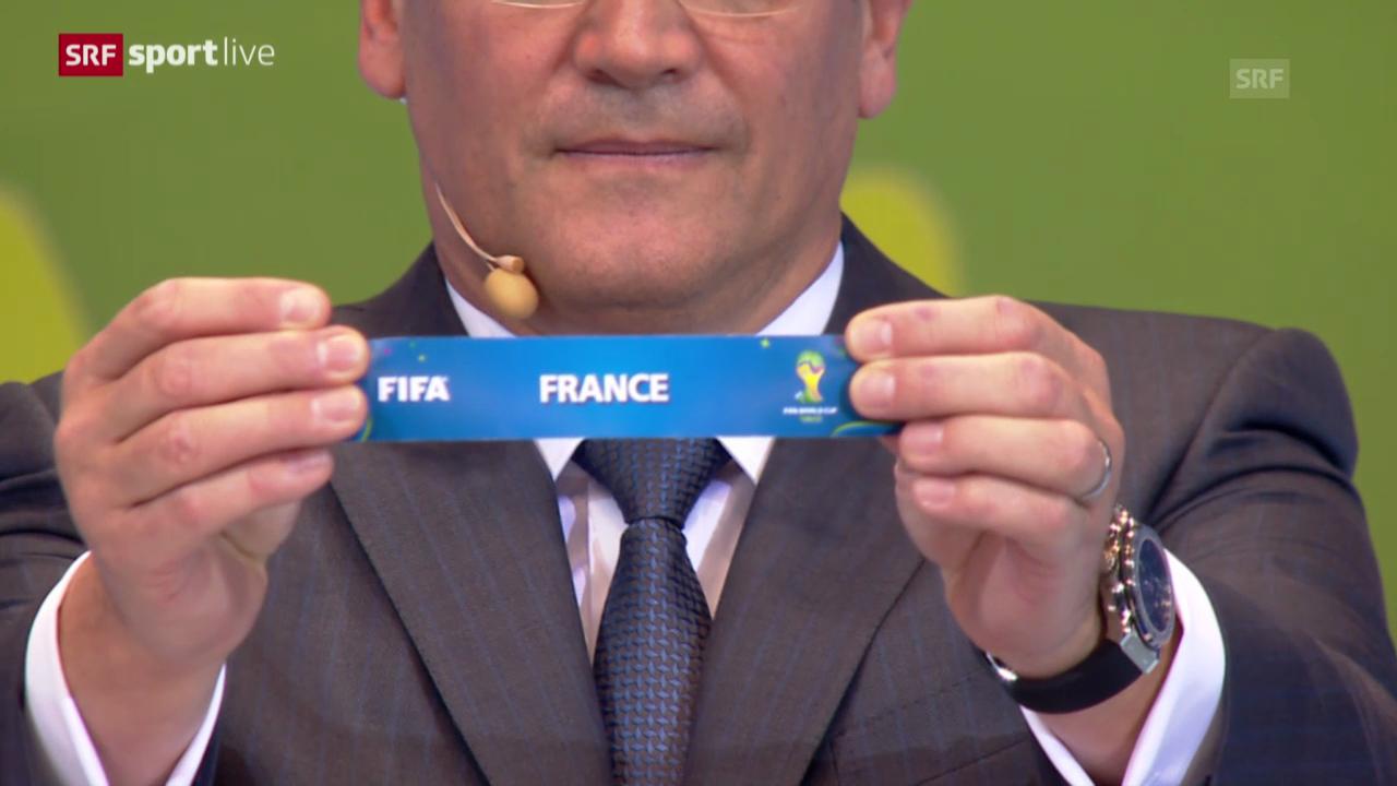 Fussball: WM-Auslosung, Schweizer Gruppe