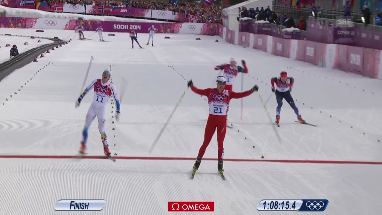 Sotschi: Langlauf, Skiathlon, Zielspurt der Männer