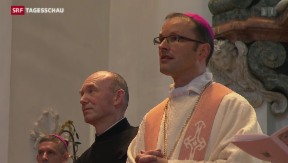 Video «Neuer Abt in Einsiedeln» abspielen