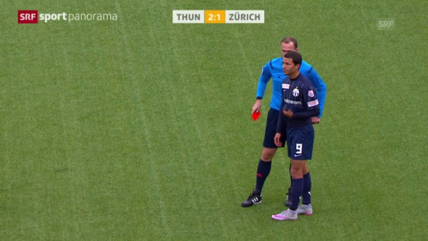 Video «Fussball: Amine Chermiti fliegt vom Platz» abspielen