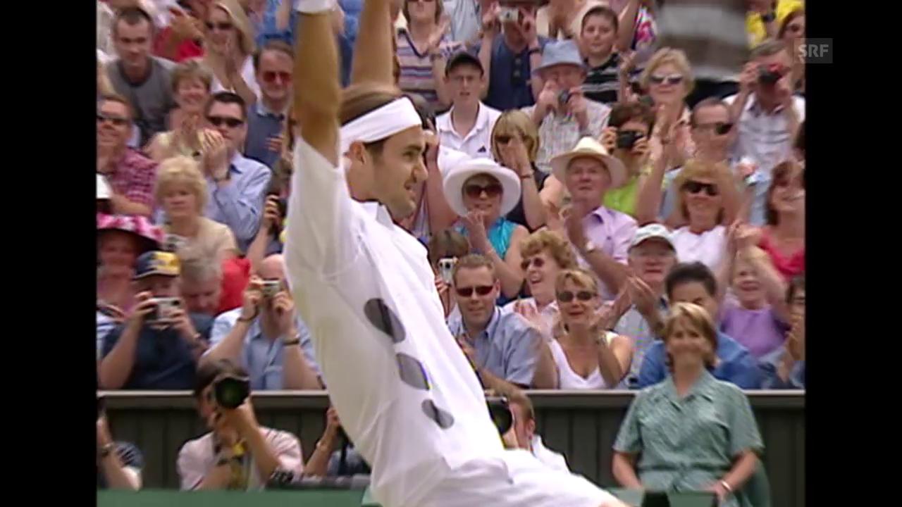 Tennis: Wimbledon, die 7 Triumphe von Roger Federer