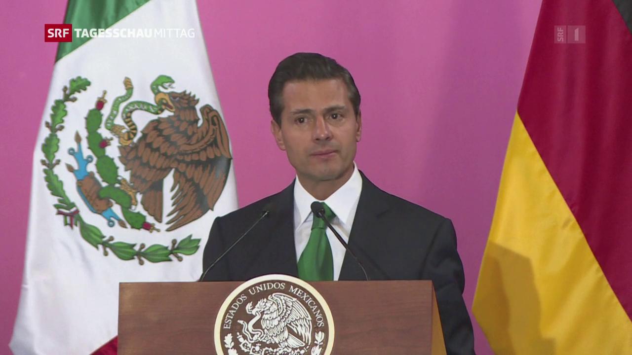 Merkel pflegt die Freundschaft mit Mexikos Präsident Peña Nieto