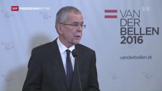 Video «Alexander van der Bellen ist Bundespräsident von Österreich» abspielen