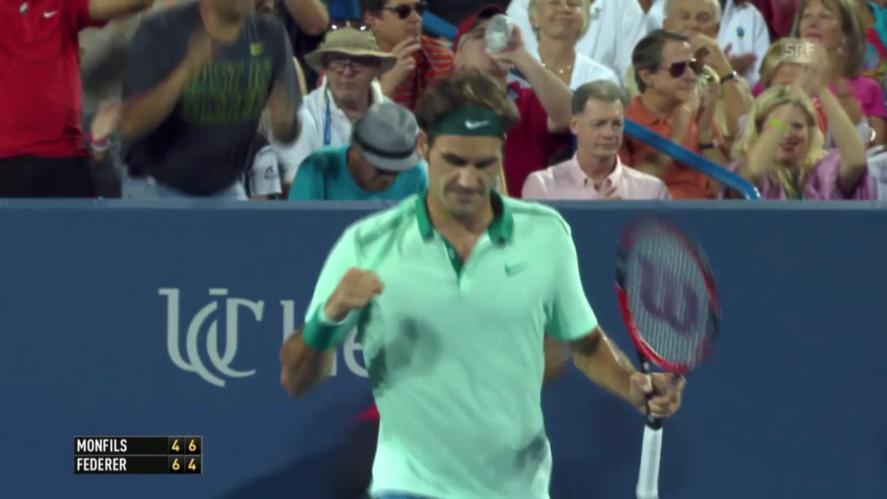 Tennis: Federer - Monfils, wichtige Punkte