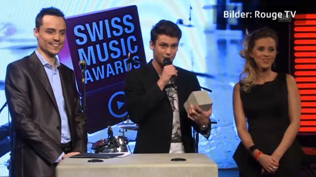 Bastian Baker freut sich über seinen Swiss Music Award