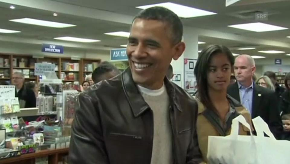 Barack Obama im Buchladen