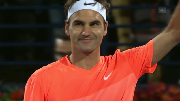 Video «Tennis: ATP Doha, Live-Highlights Djokovic - Federer» abspielen