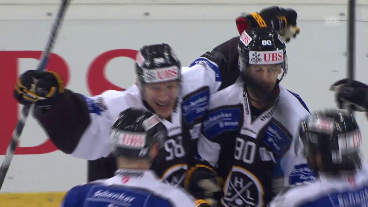 Eishockey: Spengler Cup, Lugano-Adler Mannheim, 2:3 Brunner