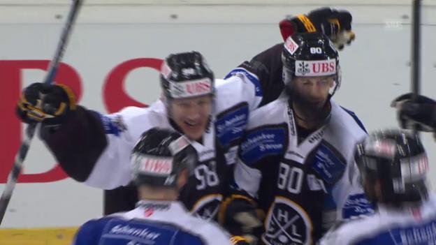 Video «Eishockey: Spengler Cup, Lugano-Adler Mannheim, 2:3 Brunner» abspielen