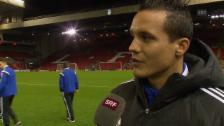 Video «Fussball: CL, Philipp Degen über seine Rückkehr nach Liverpool» abspielen