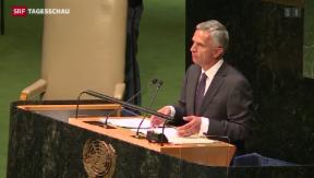 Video «Didier Burkhalters Kritik am UNO-Sicherheitsrat» abspielen