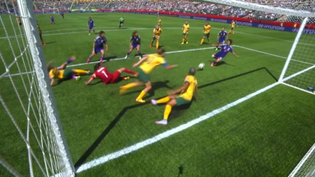 Video «Fussball: Frauen-WM, Viertelfinal Japan-Australien» abspielen